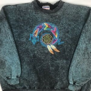 Vintage Native American distressed crewneck